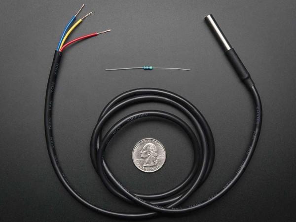 Wasserdichter Temperatur-Sensor (DS18B20) + extras