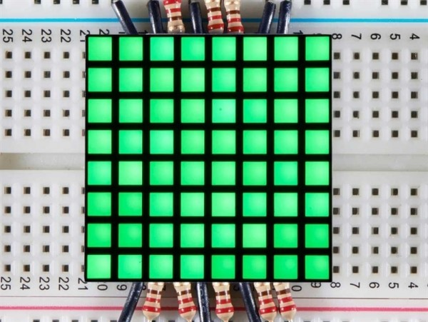 "Adafruit 1.2"" 8x8 Matrix Square Pixel - Pure Green"