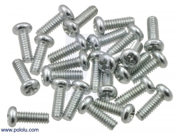"Machine Screw: #2-56, 1/4"" Length, Phillips (25-pack)"