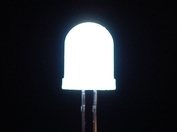 Diffused White 10mm LED (25 pack)
