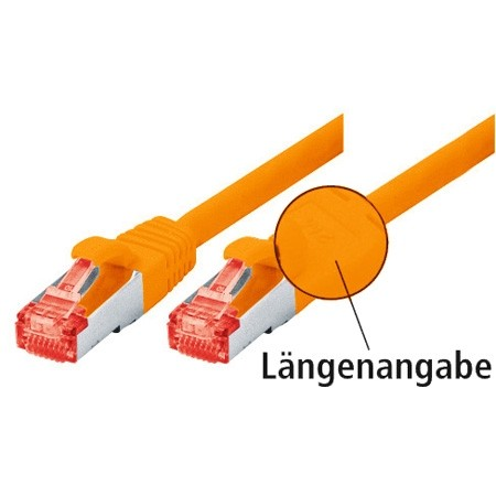 CAT.6 Ethernet LAN Patchkabel SF/UTP 1m Orange