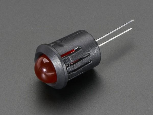 10mm Plastic Bevel LED Holder - Pack of 5