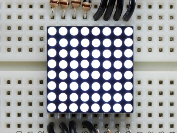 Miniature Ultra-Bright 8x8 White LED Matrix