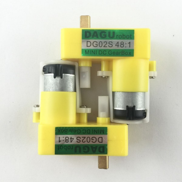 1:48 Geared Motor with single metal shaft