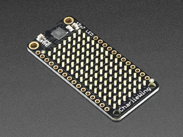 Adafruit 15x7 CharliePlex LED Matrix FeatherWing - Warm White