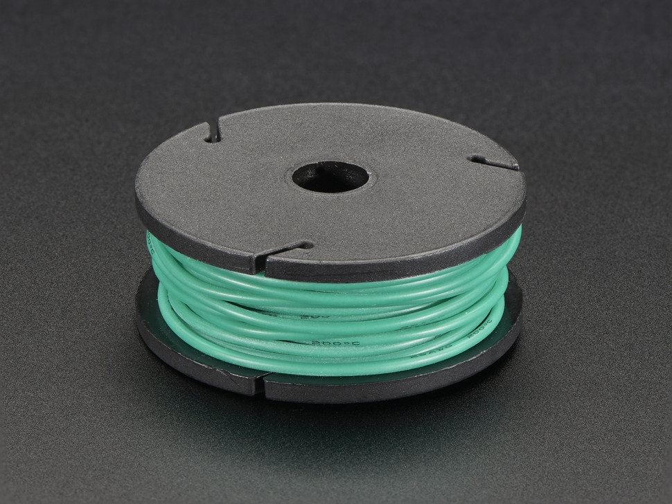 Silicone Cover Stranded-Core Wire - 25ft 7.62m 26AWG - Green ...