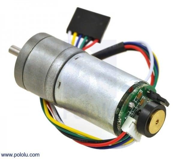 9.7:1 Metal Getriebemotor 25Dx48L mm HP 12V mit 48 CPR Encoder