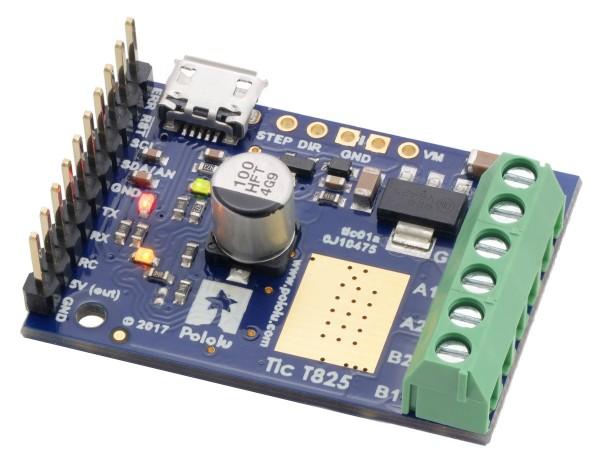 Pololu Tic T825 USB Multi-Interface Schrittmotor-Treiber (gelötete Konnektoren)