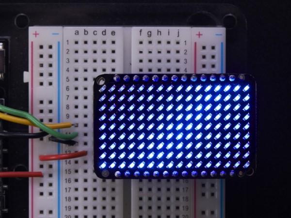 Adafruit LED Charlieplexed Matrix - 9x16 LEDs - Blue