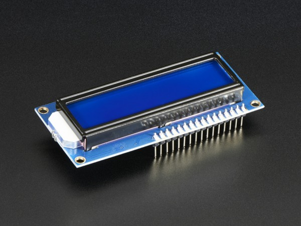 Adafruit Assembled Standard LCD 16x2 + extras - White on Blue