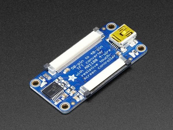 Adafruit TFT 50 Pin zu 40 Pin + AR1100 Touchscreen Adapter
