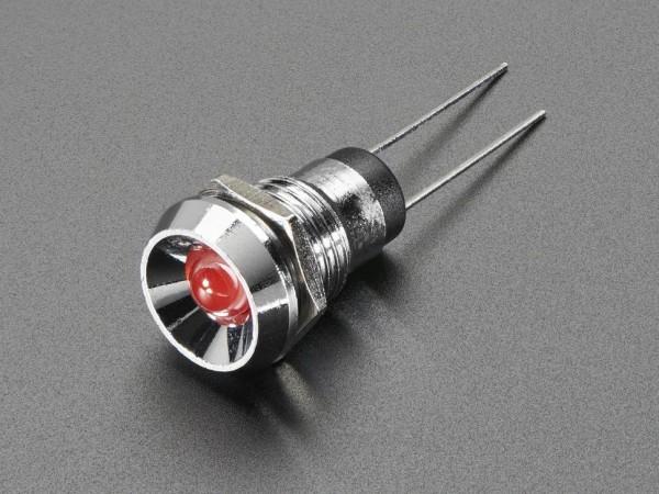 5mm Chromed Metal Wide Concave Bevel LED Holder - Pack of 5