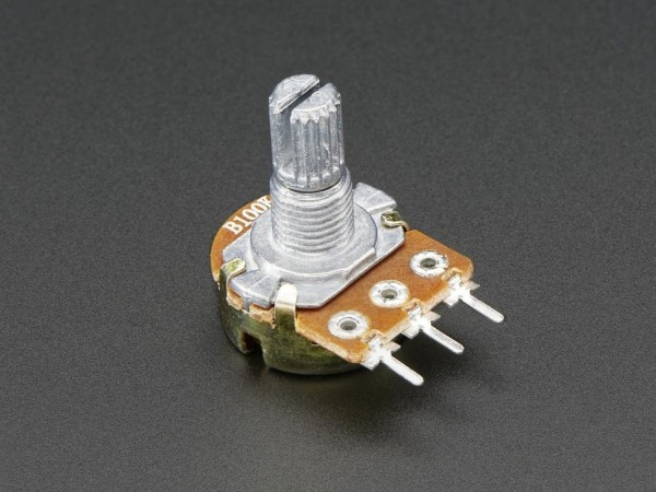 Panel Mount 100K potentiometer (Breadboard Friendly) - 100KB