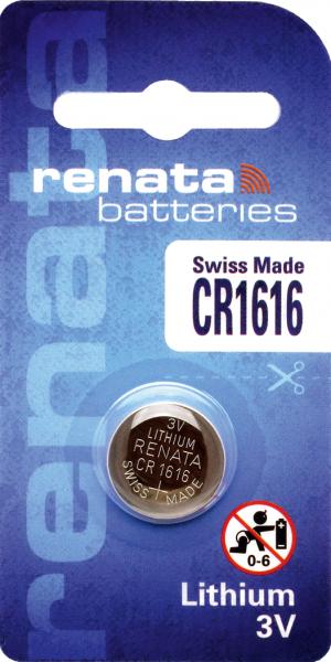 renata CR1616 3V Lithium Knopfzelle