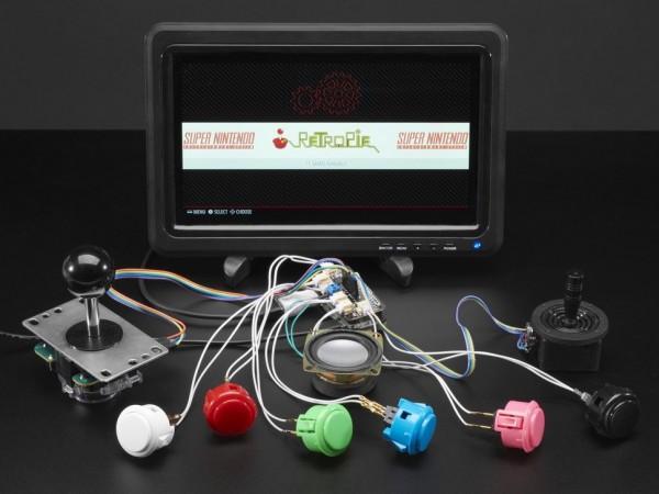 Adafruit Arcade Bonnet for Raspberry Pi with JST Connectors - Mini Kit