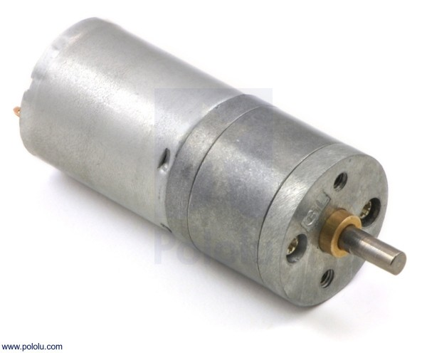4.4:1 Metal Gearmotor 25Dx48L mm LP 12V