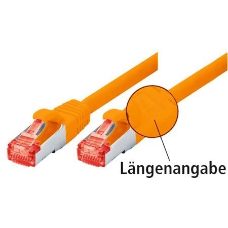CAT.6 Ethernet LAN Patchkabel SF/UTP 2m Orange