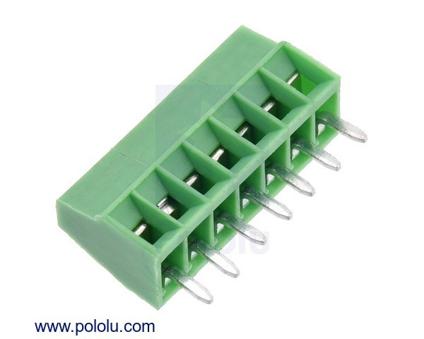 Screw Terminal Block: 7-Pin, 2.54mm Pitch, Side Entry