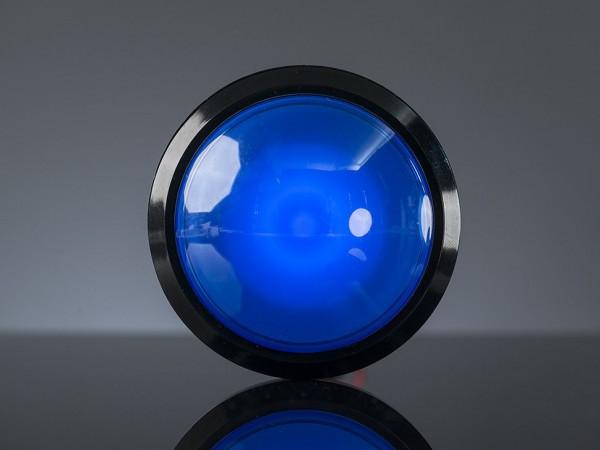 Massiver Arcade-Button mit LED - 100 mm Blau