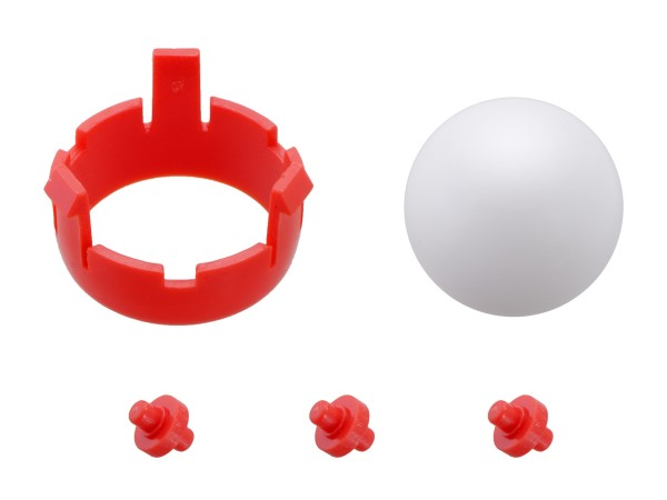 Romi Chassis Ball Caster Kit - Red