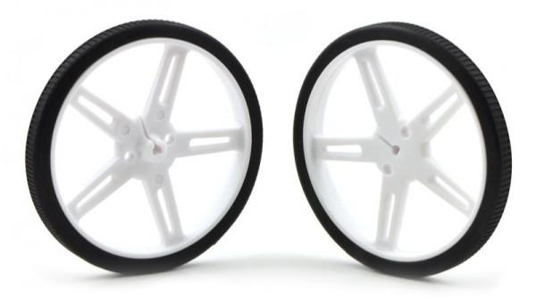 Pololu Wheel 70x8mm Pair - White