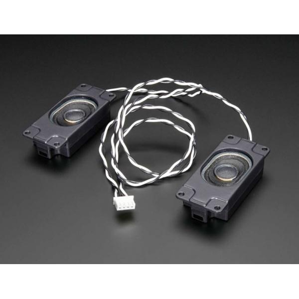 Stereo-Lautsprecher (3W 4 Ohm) mit Gehäuse und JST-Anschluss
