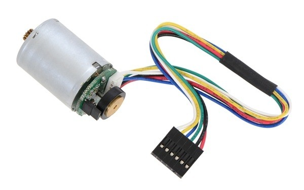 HP 6V Motor with 48 CPR Encoder for 25D mm HP Metal Gearmotors (No Gearbox)