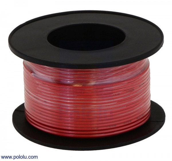 Stranded Wire: Red, 26 AWG, 21m