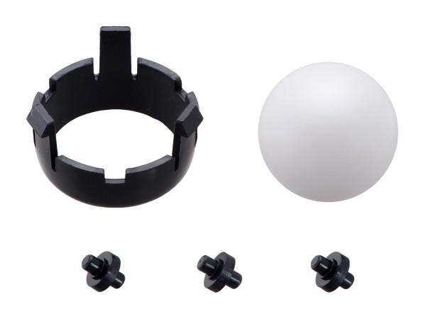 Romi Chassis Ball Caster Kit - Black