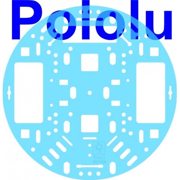 "Pololu 5"" Robot Chassis RRC04A Transparent Light-Blue"