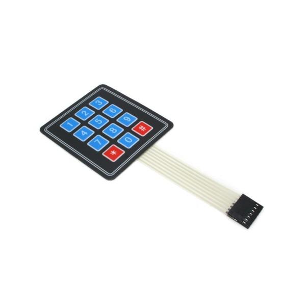 Sealed Membrane 4x3 Button Pad