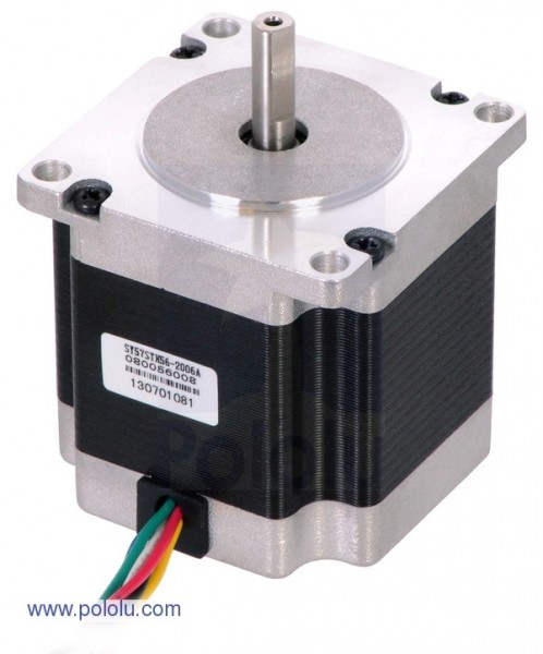 Stepper Motor: Unipolar/Bipolar, 200 Steps/Rev, 57x56mm, 3.6V, 2 A/Phase