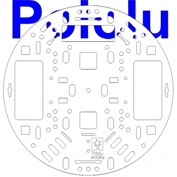 "Pololu 5"" Robot Chassis RRC04A Solid White"