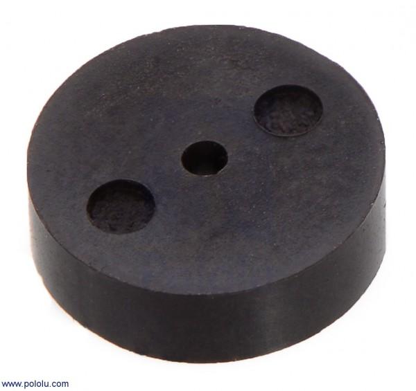 Magnetic Encoder Disc for Micro Metal Gearmotors, OD 7.65 mm, ID 1.0 mm, 12 CPR (5-Pack)