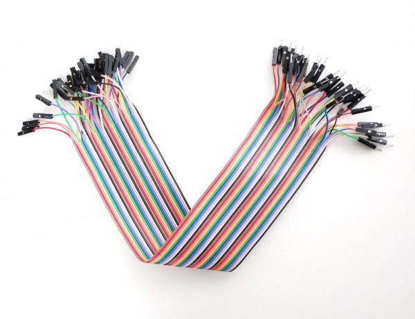 M/F 200mm Jumper Wires (40 pcs)