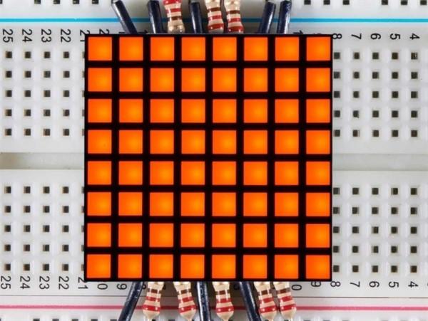 "Adafruit 1.2"" 8x8 Matrix Square Pixel - Amber"