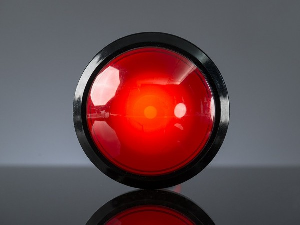 Massive Arcade Button with LED - 100mm Red