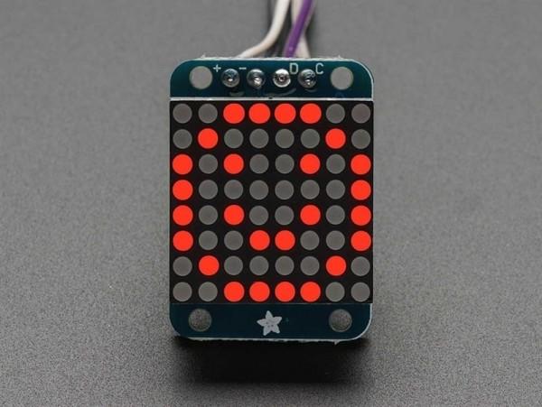 Adafruit Mini 8x8 LED Matrix w/I2C Backpack - Rot