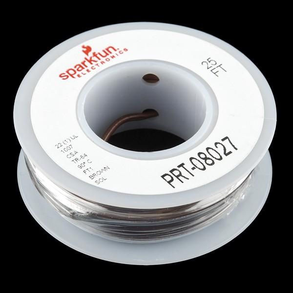 Standard Schaltdraht auf Spule (22 AWG, braun)