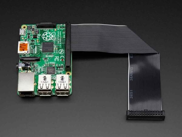 Adafruit Downgrade GPIO Ribbon Cable for Raspberry Pi Model B+ / 2 / 3 (40p to 26p)