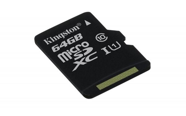 Kingston 64GB Canvas Select SDCS Klasse 10 MicroSD Speicherkarte