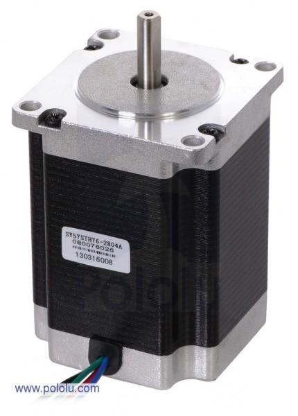 Stepper Motor: Bipolar, 200 Steps/Rev, 56x76mm, 3.2V, 2.8 A/Phase