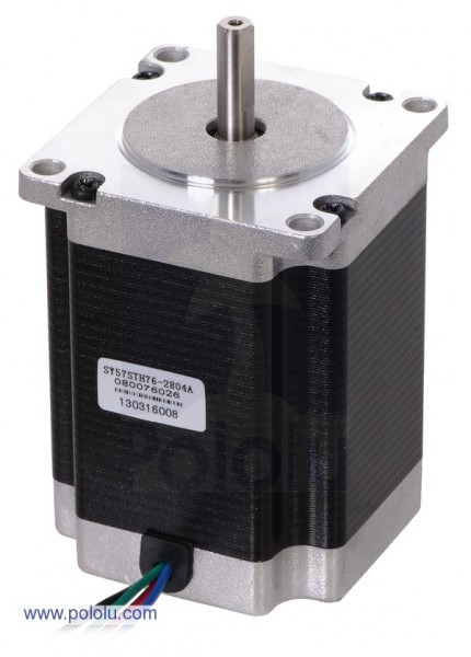Stepper Motor: Bipolar, 200 Steps/Rev, 56x76mm, 3.2V, 2.8 A/Phase
