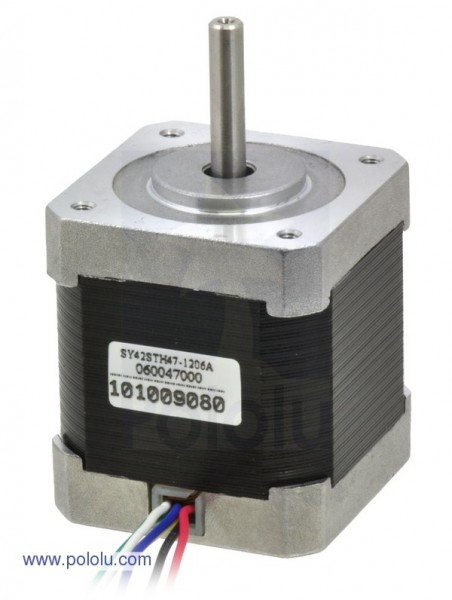 Stepper Motor: Unipolar/Bipolar, 200 Steps/Rev, 42x48mm, 4V, 1200mA