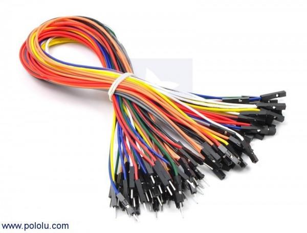 Premium Jumper Wire 50-Piece Rainbow Assortment M-F 30cm