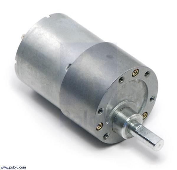 100:1 Metal Gearmotor 37Dx57L mm