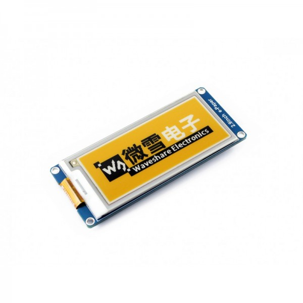 Waveshare 2.9 Inch 3-color E-Ink Display Module (yellow/black/white)