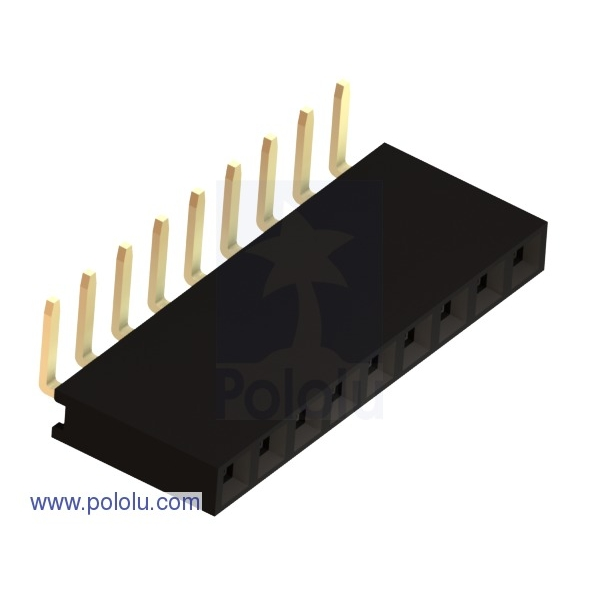 "0.100"" (2.54 mm) Female Header: 1x9-Pin, Right-Angle"