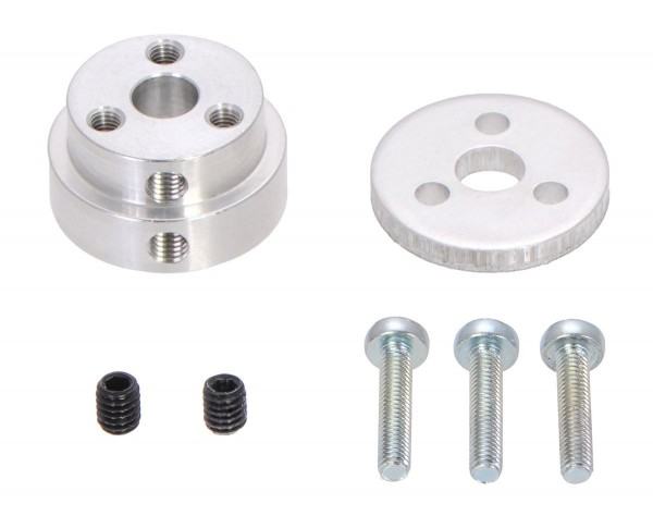 Pololu Aluminum Scooter Wheel Adapter for 6.35mm Shaft