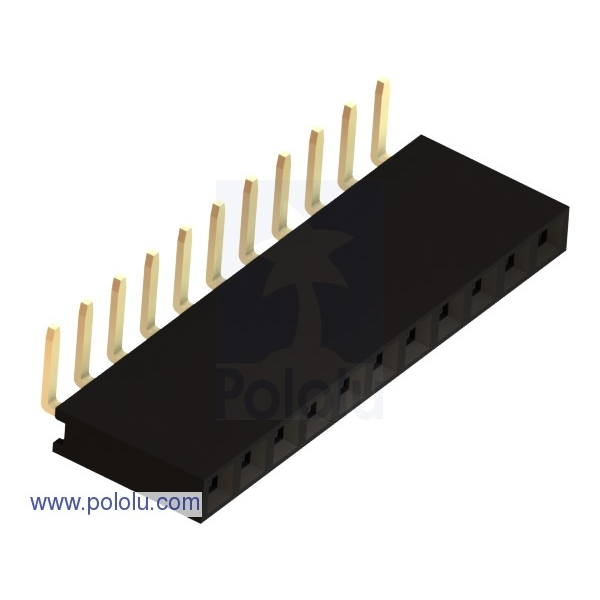 "0.100"" (2.54 mm) Female Header: 1x11-Pin, Right-Angle"